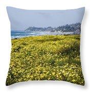 California Wildflowers Throw Pillow