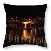 Cambie Street Bridge Throw Pillow