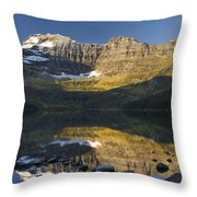 Cameron Lake, Waterton, Alberta, Canada Throw Pillow
