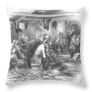Camp Meeting, 1852 Throw Pillow