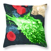Cancer Cell Death, Sem 1 Of 6 Throw Pillow