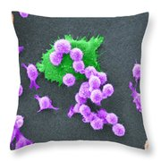 Cancer Cell Death Sequence, Sem Throw Pillow