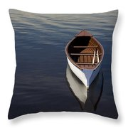 Canoe On Gander River, Gander Bay Throw Pillow
