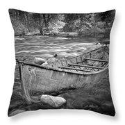 Canoe On The Thornapple River Throw Pillow