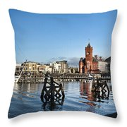 Cardiff Bay Panorama Throw Pillow