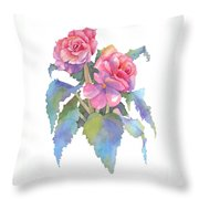 Carmel Begonias Throw Pillow