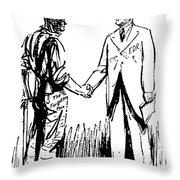 Cartoon: Fdr & Workingmen Throw Pillow