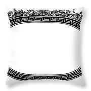 Cartouche, 19th Century Throw Pillow