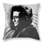 Cash In Black And White Throw Pillow