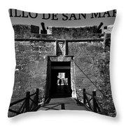 Castillo De San Marcos Throw Pillow by David Lee Thompson