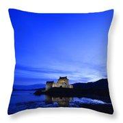 Castle In Scotland Throw Pillow
