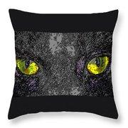 Cat Eyes Throw Pillow