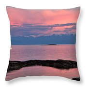 Cattle Point And The Strait Of Juan De Fuca Throw Pillow