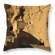 Cave Dwellings Throw Pillow
