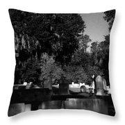 Cemetery Natchez Mississippi Throw Pillow