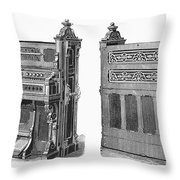 Chapel Organ, 19th Century Throw Pillow