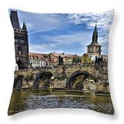 Charles Bridge - Prague Throw Pillow
