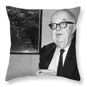 Charles Percy Snow Throw Pillow