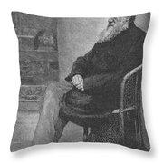 Charles Robert Darwin, English Throw Pillow