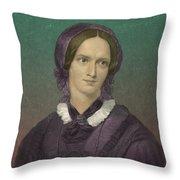Charlotte Bronte, English Author Throw Pillow