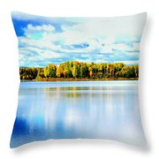 Chena Lakes Throw Pillow
