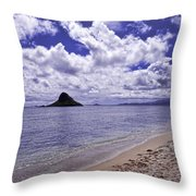 Chinaman S Hat From Kualoa Throw Pillow