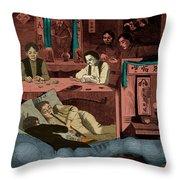 Chinatown Opium Den Throw Pillow