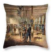 Chinese Workers, 1870 Throw Pillow