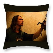 Chivalry Throw Pillow by Christopher Gaston