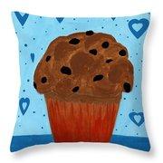 Chocolate Chip Cupcake Throw Pillow