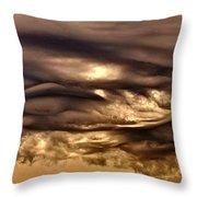 Chocolate Sky Throw Pillow