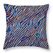Cholesteric Liquid Crystals  Throw Pillow