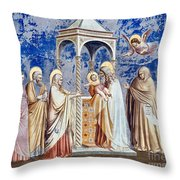 Christ At The Temple Throw Pillow