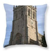 Christchurch Priory Bell Tower Throw Pillow