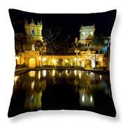 Christmas On The Prado Throw Pillow