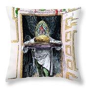 Christmas Pudding, 1882 Throw Pillow