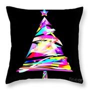 Christmas Tree Design Throw Pillow