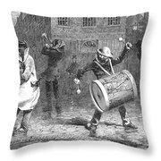Christmas Waits, 1853 Throw Pillow