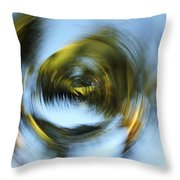 Circular Palm Blur Throw Pillow
