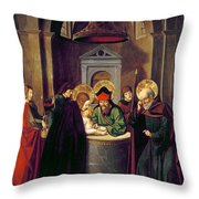 Circumcision Of Christ Throw Pillow