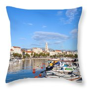 City Of Split In Croatia Throw Pillow