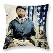 Civil War: Black Soldier Throw Pillow