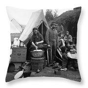 Civil War: Camp Life, 1861 Throw Pillow