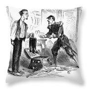 Civil War Cartoon Throw Pillow