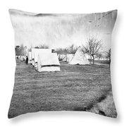 Civil War: Union Camp, 1863 Throw Pillow