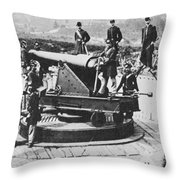 Civil War: Union Fort Throw Pillow