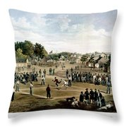 Civil War: Union Prisoners Throw Pillow