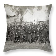 Civil War: Union Troops Throw Pillow