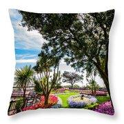 Clacton Pleasure Garden Throw Pillow