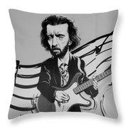 Clapton In Black And White Throw Pillow